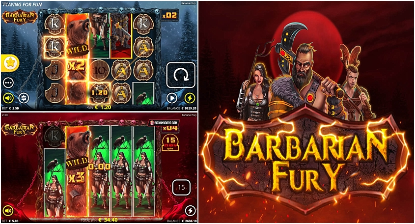 Barbarian Fury Slot - Free Play in Demo Mode - Feb 2021