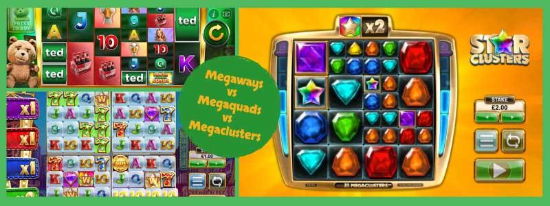 Megaways Vs Megaquads Vs Megaclusters – Which is Best?